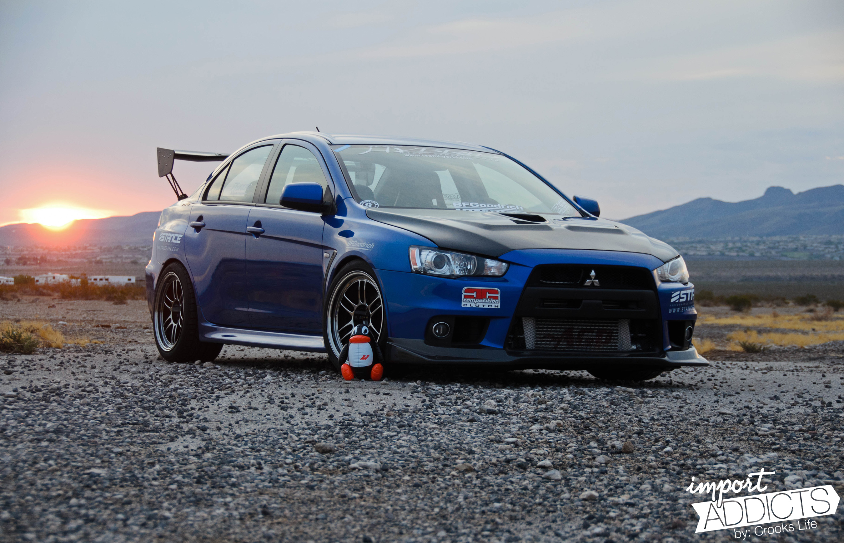 Mistress In Blue Evo X Feature Stance Suspension